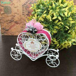 $enCountryForm.capitalKeyWord Australia - Love Heart Candy Boxes Weddin Favor Romantic Cinderella Carriage Chocolate Boxes Wedding Birthday Party Flower Decor