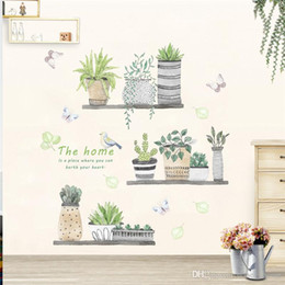 nursery flower decals Australia - 3d garden plant flower butterfly wall stickers nursery Living Room Bedroom Store window home decor flower wall decal art poster