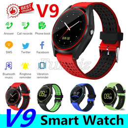 watches polishing Australia - V9 smartwatch android SIM Intelligent mobile phone watch Pedometer Health Sport Clock Hours Men Women Bluetooth Smart watches