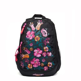Flowers Prints Backpack Waterproof Orthopedic kid School Bags For Girls  Children School Larger Capacity Nylon Backpack Grade 3-6 4b3d0d57e7023