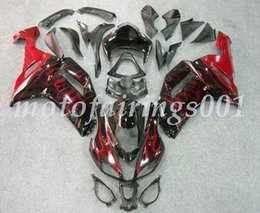 custom zx636 Australia - 4Gifts Free Custom New ABS Bodywork set Fairings kits Fit For KAWASAKI Ninja ZX-6R ZX-636 ZX636 ZX6R 2007 2008 ZX 636 Red Flame