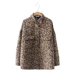 $enCountryForm.capitalKeyWord Australia - Oversize Leopard Printed Jackets 2019 Spring Coats For Women Ladies Plus Size Loose Coats Korean Style Harajuku Outerwear
