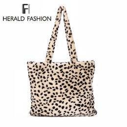 Herald Fashion Winter Soft Faux Fur Bag Large Women Fur Tote Bag Warm Plush Handbag  Luxury Ladies  Messenger Shoulder Bag Sac D19011204 656d8f3f82151
