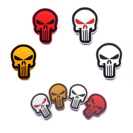 Punisher morale Patches online shopping - Punisher Skull D PVC Epoxy Armband Military Tactics Special Force Morale Badge Hat Jacket Outdoor Sports Decoration Patch