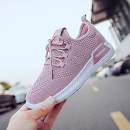 White Casual Closed Shoes For Girls Canada - Shoes WomanSneakers Breathable Mesh Casual Women Solid Flats Shoes For Ladies Tenis Feminino Casual Slip On Lazy Shoes For Girl