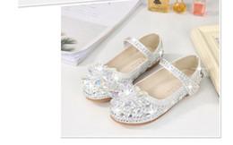 9581c490840 White Shiny Cinderella Crystal Shoes Designer Fashion Luxury Brand Girl  Shoes Designer Shoes Full Diamond Kids Formal Wear Free Shipping