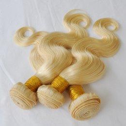$enCountryForm.capitalKeyWord Australia - Virgin remy Human Hair 3 bundles Blonde Color Option Unprocessed Brazilian body wave hair weft Cheap Hair