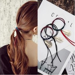 $enCountryForm.capitalKeyWord Australia - Korea Unique 120pcs lot Metal Feather Pendant Hair Bands Multi Assorted Colors Hair Ring Hair Accessories & Tools HA241