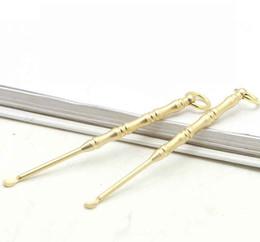 $enCountryForm.capitalKeyWord UK - Brass copper Stainless Steel Material Spoon Dab Dabber Key Ring Shovel Wax Tools Scoop Keychain Hookah Shisha Earpick 5 Style fashion