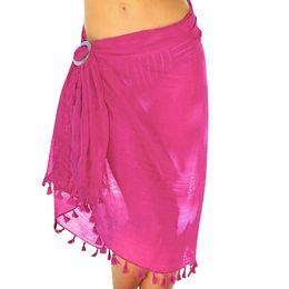 $enCountryForm.capitalKeyWord Australia - Summer Skirt Women's Chiffon Beach Cover up Sarong Multi Wear Tassels Swim Wild Womens Harajuku Knee-Length Sexy Skirts 2019