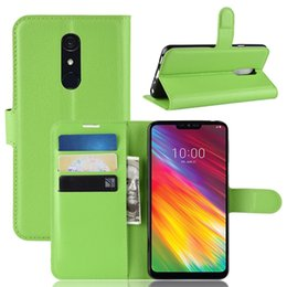 vodafone cases 2019 - Colorful Wallet Leather Case For LG G7 Fit Vodafone Smart X9 Oukitel C12 Pro Litchi Card Slot Leechee Luxury Stand Flip