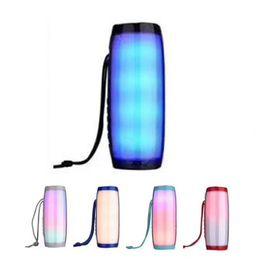Office Speakers Australia - Waterproof Wireless Bluetooth Speaker TG157 LED Colorful Melody Lantern Innovative Gift Outdoor Stereo Loudspeakers Office Speakers