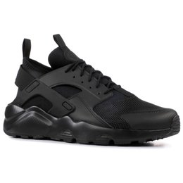 sneakers running shoes air UK - Air Huarache 1.0 4.0 Run Ultra SE IV Men Women Running Shoes Triple Black Red White Lightweight Athletic Sport Huraches Sneakers