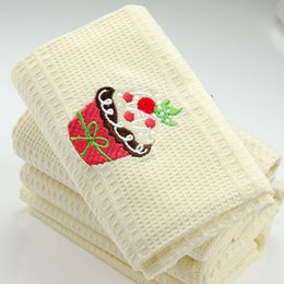 $enCountryForm.capitalKeyWord Australia - 5pcs Nordic simple pure cotton cloth embroidered napkin cloth, tea towel, table mat, wine cup towel 48*68cm