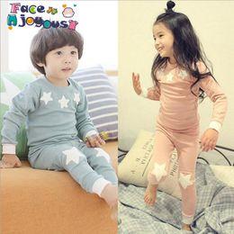 Stars Vest Australia - 2019 Cartoon Stars Shirt+pants 2pcs Children Girls Clothing Set Outfit Toddler Baby Boys Long Sleeves Set 2-6 Years For