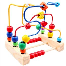 $enCountryForm.capitalKeyWord Australia - Children Wooden String Beads Toy Building Blocks Educational Intellectual Development Toy Learning Educational Counting Toys SH190908