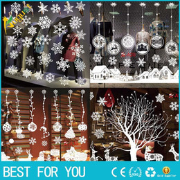 $enCountryForm.capitalKeyWord NZ - Christmas Decoration Window Glass Stickers Merry Christmas Santa Claus Snow PVC Removable Wall Sticker for Xmas Home Decals