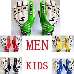 Green Gloves kids online shopping - Best quality Professional Finger Protection Soccer kids Goalie Gloves Latex Goalkeeper Gloves for Men Latex Volleyball Sports Gloves