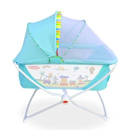 $enCountryForm.capitalKeyWord Australia - Multifunctional Portable Baby Shaker Crib Baby Cradle Foldable Game Bed with Mosquito Net Rocker Crib 0-24 Months