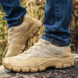 $enCountryForm.capitalKeyWord NZ - top quality Outdoor Men Hiking Shoes Waterproof Breathable Tactical Combat Army Boots Desert Training Sneakers Anti-Slip Trekking Shoes