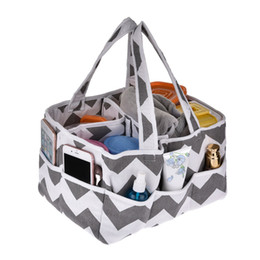 Tote Bags Compartments Canada - Baby Diaper Bag Insert Organiser 3-Compartment Infant Nursery Tote Storage Bin Portable Organizer Newborn Diaper Storage Basket