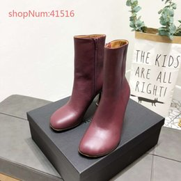 Genuine Leather Cap NZ - Luxury brand new style red women boots pointed toes high heels genuine leather fashionable best quality women shoes 34-40