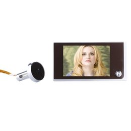 digital peephole viewers NZ - SN520A 3.5 inch Screen 1.0MP Security Camera Digital Peephole Door Viewer