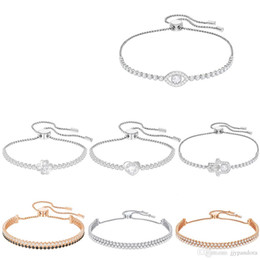Flowers Rose White Love Australia - FAHMI SWA SUBTLE Rose Gold Fashion Elegant Devil Eyes Heart Shape Four-leaf Flower Palm Adjustable Telescopic Bracelet