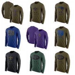 7a57b3c57ca22 MEN Vikings Patriots Saints Giants Jets Raiders Salute to Service Sideline  Legend Performance Long Sleeve T-Shirt