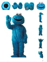 Wholesale sesame street mascot costumes online – ideas 2019 Hot sale Sesame Street Cookie Monster Mascot Costume Fancy Party Dress Suit