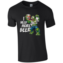 Wholesale I Need More Beer Mens Novelty T Shirt Mens Gifts Birthday Christmas Fathers DayFunny Unisex Casual Tshirt top