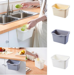 box cabinets wholesale Australia - New Kitchen Cabinet Door Hanging Trash Garbage Bin Can Rubbish Container Storage Box Cupboard Hanging Cans Garbage Organizer