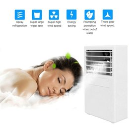 $enCountryForm.capitalKeyWord Australia - Mini Portable Table Desk Air Conditioner Small Home Office Bladeless Fan Humidifier Quiet Personal Moisturizing Air Cooler