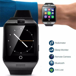 $enCountryForm.capitalKeyWord Australia - Q18 Smart Watch Bluetooth Smart watches for Android Cellphones Support SIM Card Camera Answer Call and Set up Various Language with Box