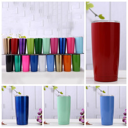 Double steel beer mug online shopping - 20oz Beer Cups Stainless Steel Car Mugs Large Capacity Double Layer Sports Mugs Travel Mugs With lid Car Cups Colors CCA11766