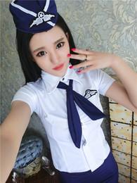 $enCountryForm.capitalKeyWord Australia - Large Flexible Flight Attendant Uniform Female Separate Role Playing COS Professional Female Police Interesting Underwear Attractive Suit