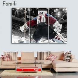 Team Painting Australia - 3panel canvas painting printing home decoration coating waterproof wall picture Pittsburgh Penguin Team Logo