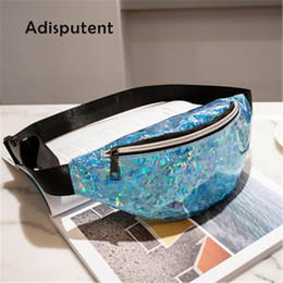 Wholesale Pillow Packs Australia - Adisputent 2019 Waist Bag Female Belt Bag Sequins Fanny Pack Female Waist Luxury Women Pochete Chest Bags Heuptas Bum Sac