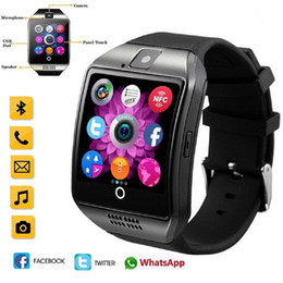 $enCountryForm.capitalKeyWord Australia - New Bluetooth Touch Screen Smart Watch Q18 Camera For iPhone Samsung Smart Phones Support GSM SIM Card Fitness Tracker