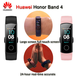 huawei band UK - New Huawei Honor Band 4 Bracelet 50m Waterproof Color Ouch Screen Heart Rate Sleep Snap Smart Wristband J190521