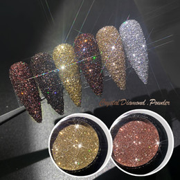 art nail powder gel NZ - Shining Sugar Nail Powder Rose Gold Sandy Nail Glitter Dust Luxury Sparkles Nail Art Pigment Laser For Gel Polish Decorations