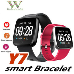 use mi smart watch UK - Y7 Smart Fitness Bracelet Mi band 3 ID115 Plus Blood Pressure Oxygen Sport Tracker Watch Heart Rate Monitor Wristband Pk Versa Ionic