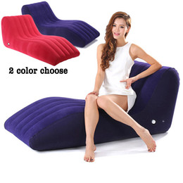 love chairs sofa UK - Inflatable Sexy Sofa S-Shape Sex Furniture Sex Chair for Couples Relax Sex Cushion Position Love Lounge Chair Lover Products E5-3-10