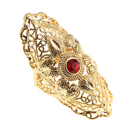 China Red Gemstone Ring Ethiopian Trendy African Arabian Middle East Jewelry Charm Party Wedding Gift supplier arabian gold suppliers