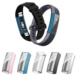 Smart Watch Screen Protectors Australia - For Fitbit Alta Smart Watch Slim Ultra- thin TPU Full Screen Protector Protective Sleeve Case Cover