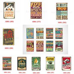 Großhandel Wenn Sie durch die Hölle gehen, gehen Sie weiter Vintage Blechschild Eisen Malerei Tin Plaques Wall Art Poster Bier Bar Pub Club Wohnkultur FFA2887-1
