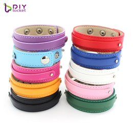 $enCountryForm.capitalKeyWord Australia - Wholesale 10PCS 18+8MM PU Leather DIY Wristband Bracelets Fit Slide Letter Charms, Accept customization LSBR037*10
