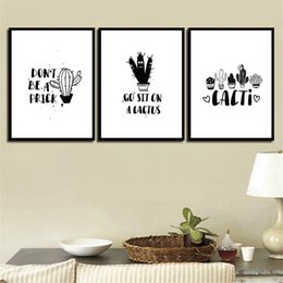 $enCountryForm.capitalKeyWord Australia - Paintings Princess Wall Art Nordic Cartoon Cactus Modern Canvas Poster Printed HD Pictures For Kids Room Home Decoration