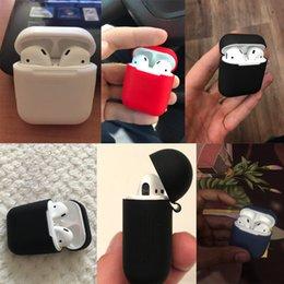 Vente en gros Etui en silicone pour A-pple A-irpods Preuve Protecteur Housse Etui Anti Perdu Cas True Wireless Earpho ne Accessoire-es couleur aléatoire