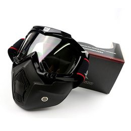 Half Helmet Goggles Australia - Halley goggles Modular Mask Detachable Goggles Mouth Filter Perfect for Open Face Motorcycle Half Helmet or Vintage Helmets